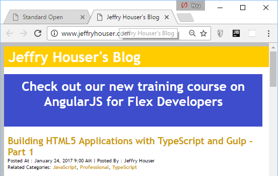 Jeffry Houser's Blog: Open a Link in a New Window with AngularJS